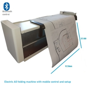 Electrical folding machine for A0 sizes
